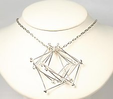 6 Loose Sqaure Twig Necklace by Gillian Batcher (Silver Necklace)