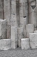 Reynisfjara Columnar Basalt 1022 by Adrienne Adam (Color Photograph)