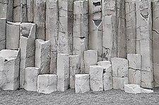 Reynisfjara Columnar Basalt 1023 by Adrienne Adam (Color Photograph)