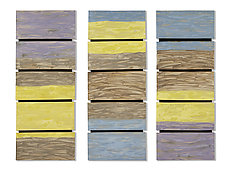 Colorblock Triptych by Kristi Sloniger (Ceramic Wall Sculpture)