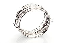 Large Cage Bangle by Ashley Vick (Silver Bracelet)