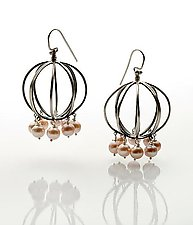 Chandelier Earrings by Ashley Vick (Silver & Pearl Earrings)