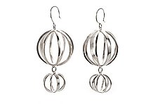 Double Drop Earrings by Ashley Vick (Silver Earrings)