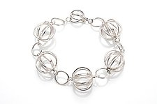 Tiny Cage Linked Bracelet by Ashley Vick (Silver Bracelet)