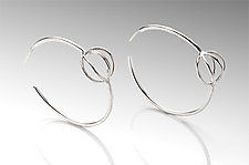 Hoop Earrings with Tiny Cage by Ashley Vick (Silver Earrings)