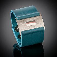 Passage Wrist Wrap Bracelet by Karen Klinefelter (Silver & Leather Bracelet)