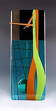 Modern by Nina  Cambron (Art Glass Pendulum Clock)