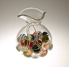 Bag O Marbles by Mike Wallace (Art Glass Sculpture)