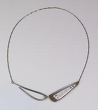 Imaginary Cursive Choker by Beth Novak (Enameled Necklace)