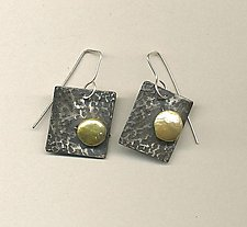 Starry Night by Diana Lovett (Silver & Pearl Earrings)
