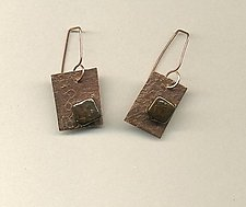 Bark by Diana Lovett (Copper & Pearl Earrings)