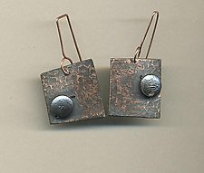 Moonlit Night by Diana Lovett (Copper & Pearl Earrings)