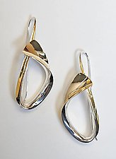 Encircle by Nancy Linkin (Gold & Silver Earrings)