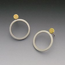 Dot & Circle Earrings by Elisa Bongfeldt (Gold & Silver Earrings)
