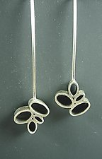 Small Ovals Earring by Hilary Hachey (Silver Earrings)