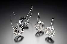 Swirl Earrings Hook by Lori Gottlieb (Silver Earrings)