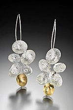 Dimpled Pebble Earrings by Lori Gottlieb (Gold & Silver Earrings)