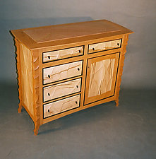 Cherry Console Cabinet by John Wesley Williams (Wood Cabinet)
