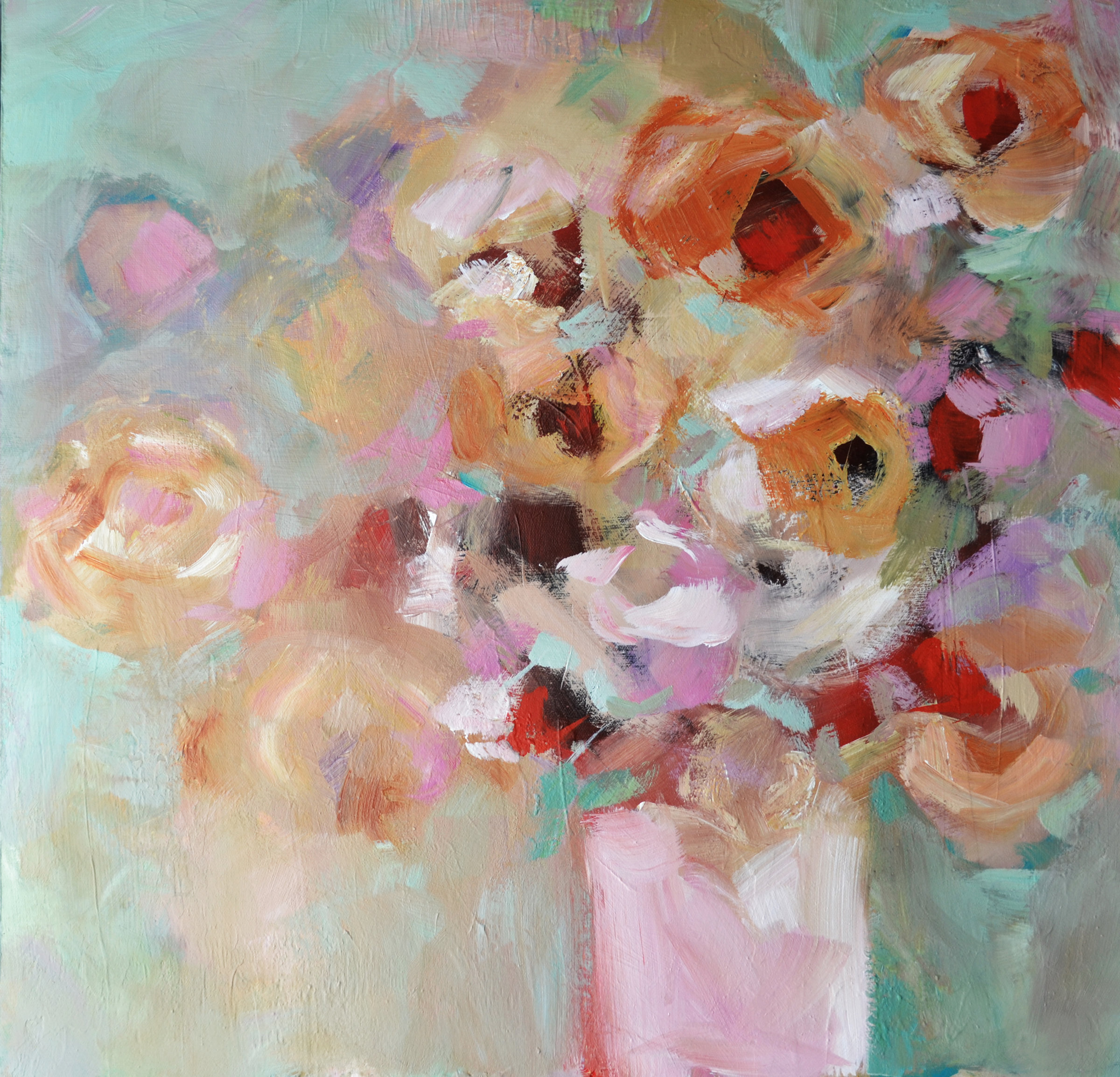 Pretty in pink by filomena booth acrylic painting for Pretty acrylic paintings