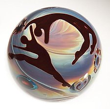 Opal Paperweights by Elodie Holmes (Art Glass Paperweight)