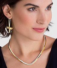 Flourish Earrings by Nancy Linkin (Gold & Silver Earrings)