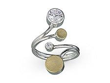 Treble Ring by Elizabeth Garvin (Gold, Silver & Stone Ring)