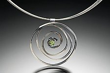 Swirl Pendant with Peridot by Lori Gottlieb (Silver & Stone Necklace)