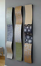 Stainless Ribbons Wall Sculpture by Linda Leviton (Metal Wall Sculpture)