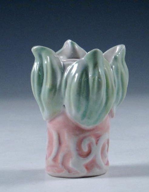 Porcelain Flower Bud Vase And Candle Holder By Carol