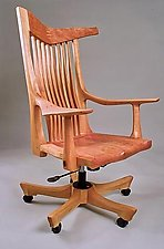 Westwind Desk Chair by Richard Laufer (Wood Chair)