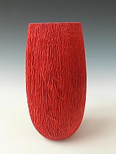 Red Palm Vessel by Dewey Garrett (Wood Vessel)