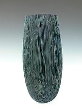 Blue Palm Vessel by Dewey Garrett (Wood Vessel)