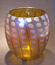Yellow Transparent Nutty Bowl by Thomas Philabaum (Art Glass Bowl)