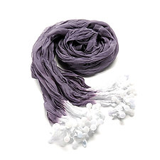 Small Purple & Ivory Epidermis Ocean Scarf by Yuh Okano  (Woven Scarf)