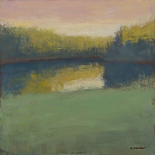 Pond Reflection by David Skinner (Acrylic Painting)