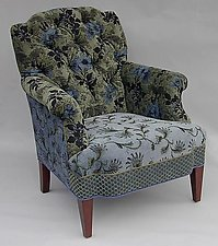 Chelsea Chair: Larkspur by Mary Lynn O'Shea (Upholstered Chair)