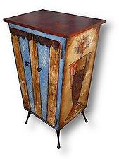 Merman Lady Liquor Cabinet by Wendy Grossman (Wood Cabinet)