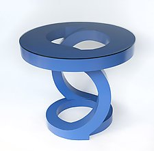 Blue End Table by John Wilbar (Wood Side Table)
