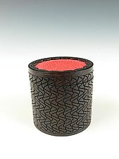 OT Box  in Blackwood and Shagreen Leather by Dewey Garrett (Wood & Leather Box)