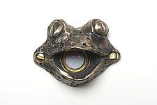 Fiona Frog Doorbell Cover by Rosalie Sherman (Metal Doorbell Cover)