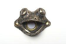 Fiona Frog Doorbell Cover by Rosalie Sherman (Metal Doorbell Cover)