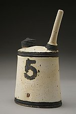Oil Can No. 5 by Nathan  Falter (Ceramic Bottle)