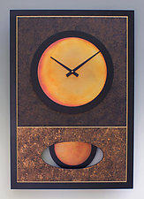 Brown Walid Pendulum Clock by Leonie  Lacouette (Wood & Metal Clock)