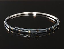 City Lights Overlapping Bracelet by Dean Turner (Gold & Silver Bracelet)
