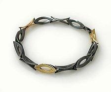 Marque Shaped Link Bracelet by Keiko Mita (Gold & Silver Bracelet)