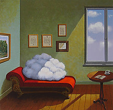 Irrelevant Question by Rafal Olbinski (Serigraph Print)