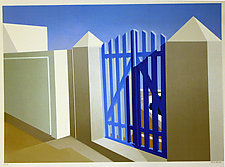 Blue Gate by Elena Borstein (Serigraph Print)