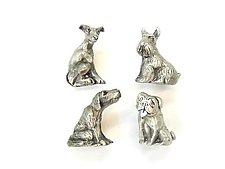 Sitting Dog Knobs by Rosalie Sherman (Metal Knob)