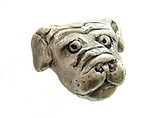 Bob - Small Dog Head Knob by Rosalie Sherman (Metal Knob)
