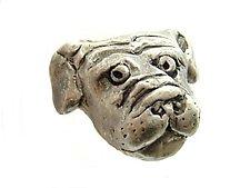 Bob - Small Dog Head Knob by Rosalie Sherman (Metal Knob)